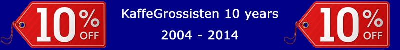 KaffeGrossisten 10 years
